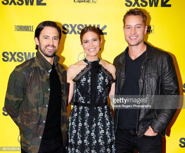 Milo Ventimiglia Mandy Moore and Justin Hartley attend Featured Session The Cast of 'This Is Us' during SXSW at Austin Convention Center on March 13...