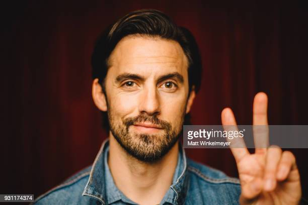 Milo Ventimiglia poses for a portrait at the 'This is Us' Premiere 2018 SXSW Conference and Festivals at Paramount Theatre on March 12 2018 in Austin...