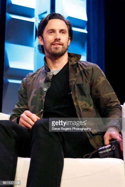 Milo Ventimiglia speaks onstage at Featured Session The Cast of 'This Is Us' during SXSW at Austin Convention Center on March 13 2018 in Austin Texas