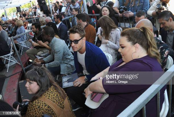 Milo Ventimiglia Sterling K Brown Justin Hartley and Chrissy Metz attend Mandy Moore's Star Ceremony on the Hollywood Walk of Fame on March 25 2019...