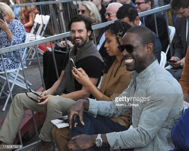 Milo Ventimiglia Susan Kelechi Watson and Sterling K Brown attend Mandy Moore's Star Ceremony on the Hollywood Walk of Fame on March 25 2019 in...