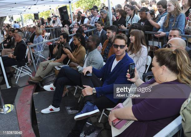 Milo Ventimiglia Susan Kelechi Watson Sterling K Brown Justin Hartley and Chrissy Metz attend Mandy Moore's Star Ceremony on the Hollywood Walk of...