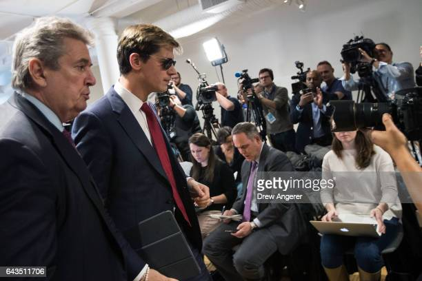 Milo Yiannopoulos exits after speaking a press conference February 21 2017 in New York City After comments he made regarding pedophilia surfaced in...
