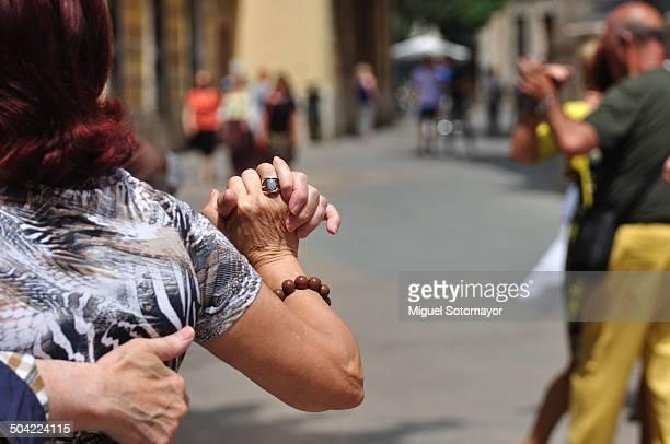 Milonga. Tango in the street