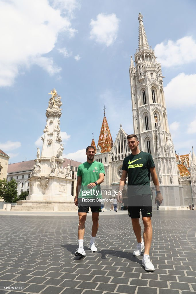 Australia Players Walking around Budapest