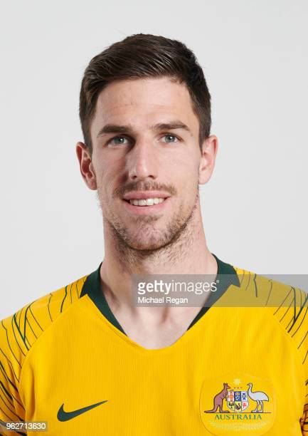Milos Degenek of Australia poses during the Australia 'Socceroos' Kit Launch on March 24 2018 in Oslo Norway