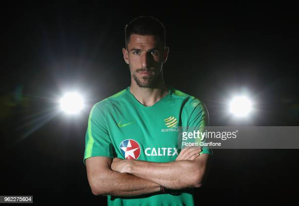 Milos Degenek of Australia poses during the Australian Socceroos Media Opportunity at Gloria Football Club on May 25 2018 in Antalya Turkey