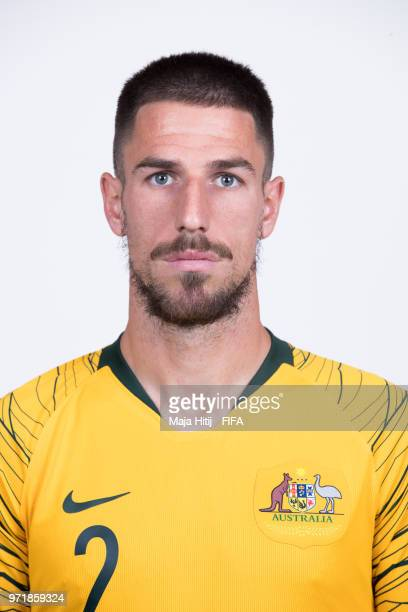 Milos Degenek of Australia poses for a portrait during the official FIFA World Cup 2018 portrait session at Trudovyne Rezeny on June 11 2018 in Kazan...