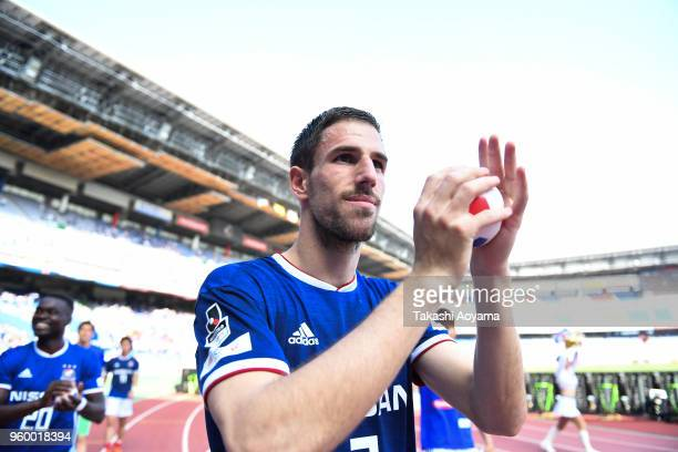 Milos Degenek of the Yokohama FMarinos applauds supporters after the JLeague J1 match between Yokohama FMarinos and VVaren Nagasaki at Nissan Stadium...