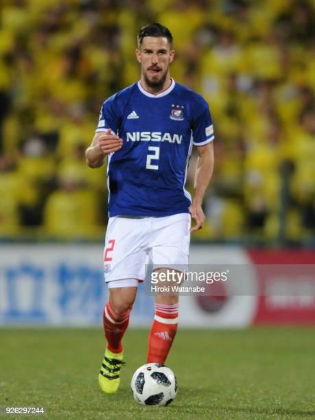 Milos Degenek of Yokohama FMarinos in action during the JLeague J1 match between Kashiwa Reysol and Yokohama FMarinos at Sankyo Frontier Kashiwa...
