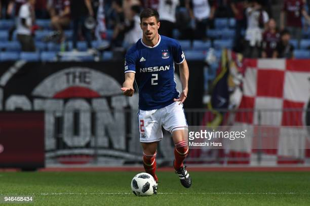 Milos Degenek of Yokohama FMarinos in action during the JLeague J1 match between Yokohama FMarinos and Vissel Kobe at Nissan Stadium on April 15 2018...