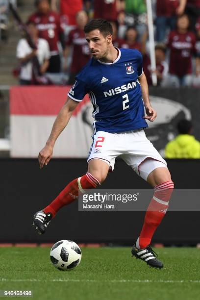 Milos Degenek of Yokohama FMarinos in action during the JLeague J1 match between Yokohama FMarinos and Vissel Kobe at Nissan Stadium on April 15 2018...