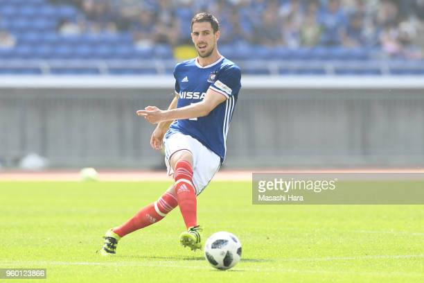 Milos Degenek of Yokohama FMarinos in action during the JLeague J1 match between Yokohama FMarinos and VVaren Nagasaki at Nissan Stadium on May 19...