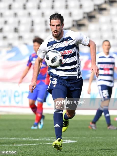 Milos Degenek of Yokohama FMarinos in action during the preseason friendly match between FC Tokyo and Yokohama FMarinos at Ajinomoto Stadium on...
