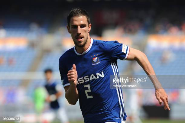 Milos Degenek of Yokohama FMarinos looks on during the JLeague J1 match between Yokohama FMarinos and VVaren Nagasaki at Nissan Stadium on May 19...