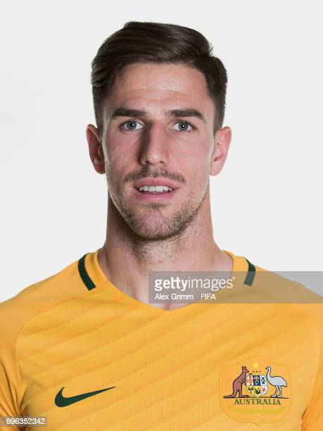 Milos Degenek poses for a picture during the Australia team portrait session on June 15 2017 in Sochi Russia