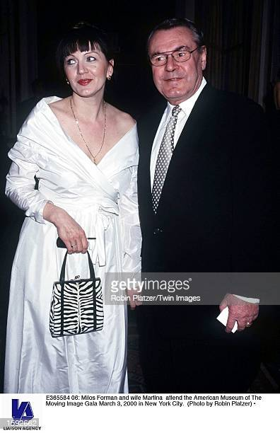Milos Forman and wife Martina attend the American Museum of The Moving Image Gala March 3 2000 in New York City
