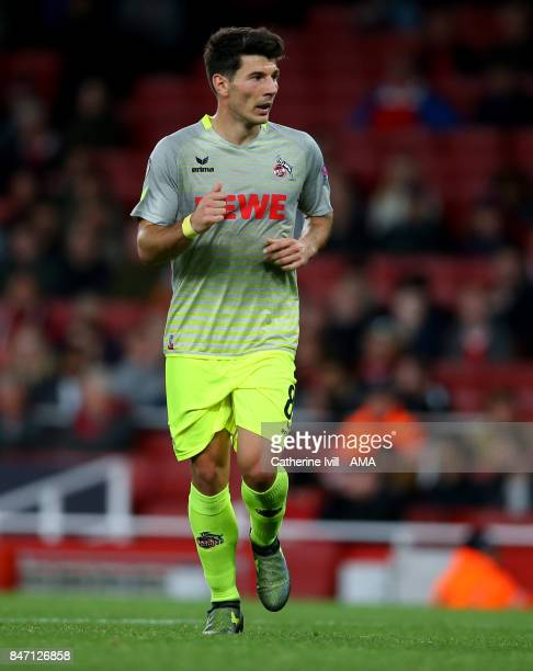 Milos Jojic of FC Koln during the UEFA Europa League group H match between Arsenal FC and 1 FC Koeln at Emirates Stadium on September 14 2017 in...