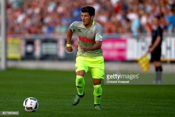Milos Jojic of Kln runs with the ball during the preseason friendly match between TSV Steinbach and 1 FC Koeln at SibreSportzentrum Haarwasen on...
