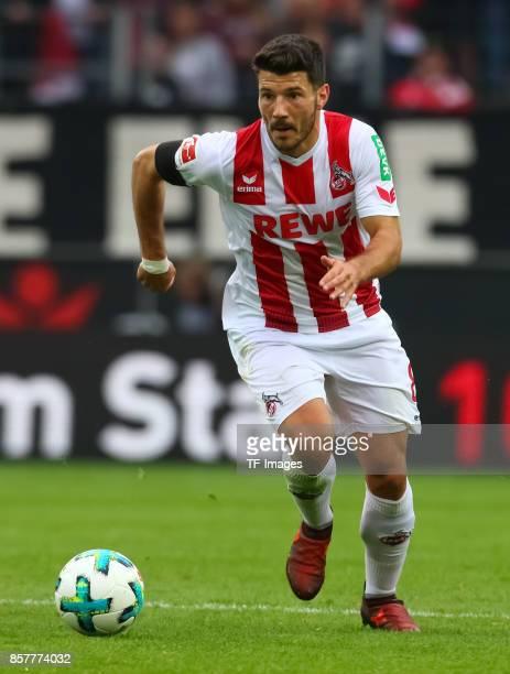 Milos Jojic of Koeln controls the ball during the Bundesliga match between 1 FC Koeln and RB Leipzig at RheinEnergieStadion on October 1 2017 in...