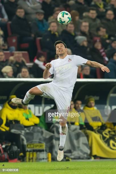 Milos Jojic of Koeln controls the ball during the Bundesliga match between 1 FC Koeln and Borussia Dortmund at RheinEnergieStadion on February 2 2018...