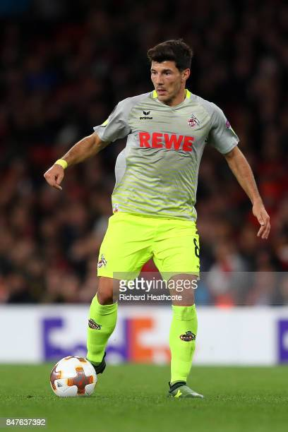 Milos Jojic of Koeln in action during the UEFA Europa League group H match between Arsenal FC and 1 FC Koeln at Emirates Stadium on September 14 2017...