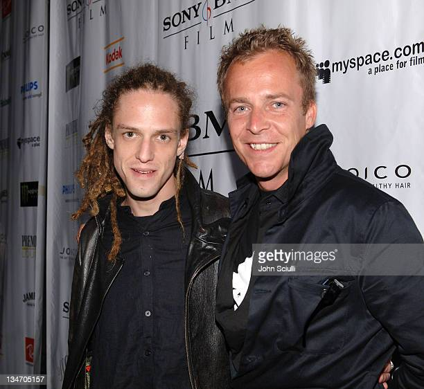 Milos Loncarevic and Asger Leth during 31st Annual Toronto International Film Festival Ghosts of Cite Soleil Party at Premiere Lounge in Toronto...
