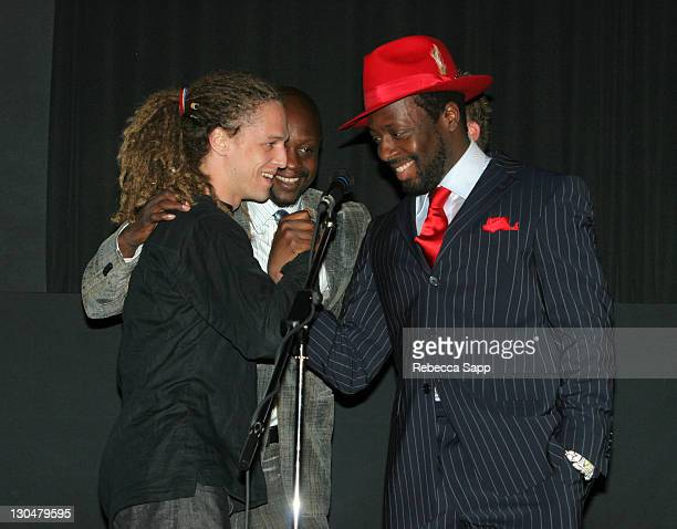 Milos Loncarevic codirector Jerry Duplessis producer and Wyclef Jean