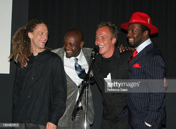 Milos Loncarevic codirector Jerry Duplessis producer Asger Leth director and Wyclef Jean