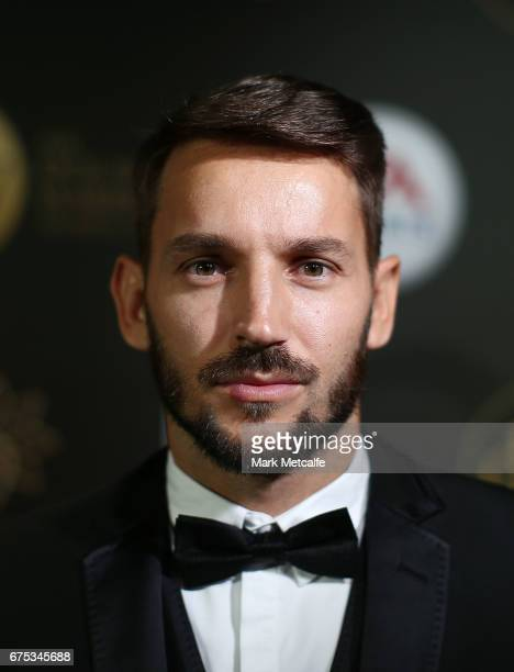Milos Ninkovic arrives ahead of the FFA Dolan Warren Awards at The Star on May 1 2017 in Sydney Australia