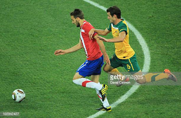 ... FIFA World Cup South Africa Group. ED. Editorial use only. Milos  Ninkovic of Serbia and Carl Valeri of Australia battle for the ball during  the 2010 1f4ed412c6ffe