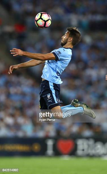 Milos Ninkovic of Sydney FC controls the ball during the round 20 ALeague match between the Western Sydney Wanderers and Sydney FC at ANZ Stadium on...