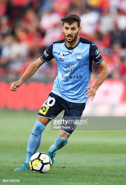 Milos Ninkovic of Sydney FC during the round 16 ALeague match between Adelaide United and Sydney FC at Coopers Stadium on January 14 2018 in Adelaide...