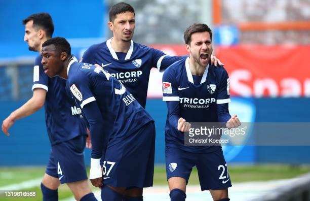 Milos Pantovic of VfL Bochum 1848 celebrates scoring the first goal during the Second Bundesliga match between VfL Bochum 1848 and SV Sandhausen at...