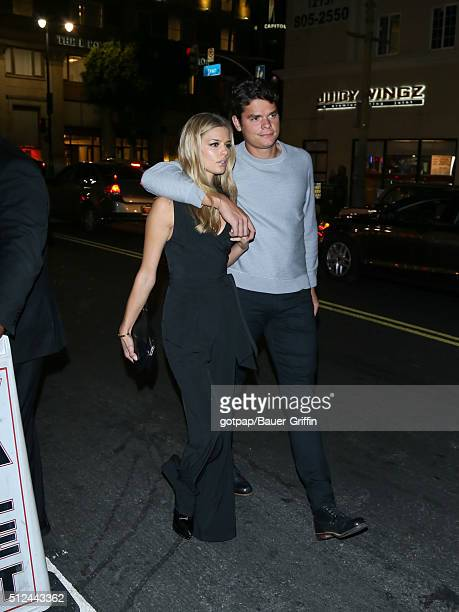 Milos Raonic and Danielle Knudson are seen on February 25 2016 in Los Angeles California