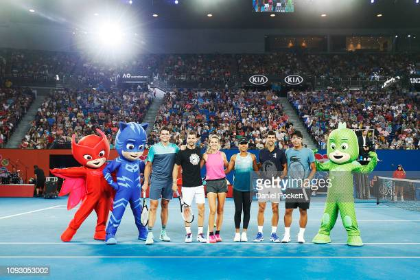 Milos Raonic of Canada, Grigor Dimitrov of Bulgaria, Victoria Azarenka of Belarus, Naomi Osaka of Japan, Novak Djokovic of Serbia and Hyeon Chung of...