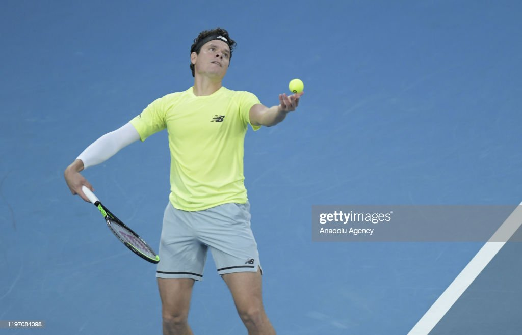 Milos Raonic Of Canada In Action Against Novak Djokovic Of Serbia News Photo Getty Images