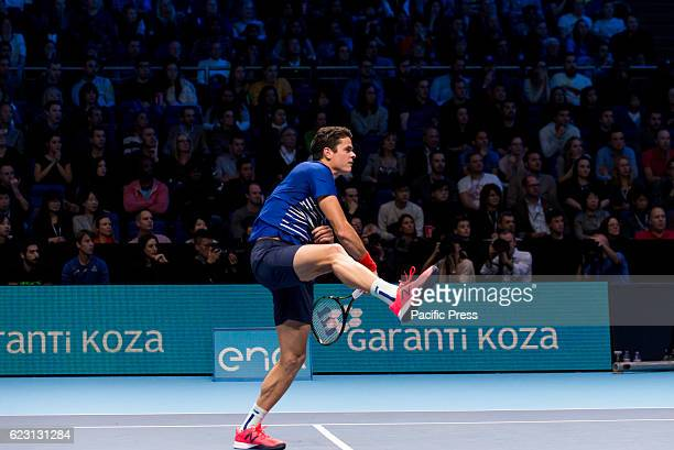 Milos Raonic plays the first mach of Round Robin ATP Finals at The O2 Milos Raonic is a Canadian professional tennis playerOn May 11 2015 he reached...