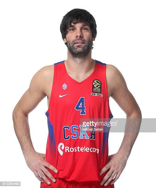 Milos Teodosic, #4 of CSKA Moscow poses during the 2016/2017 Turkish Airlines EuroLeague Media Day at USH CSKA on September 23, 2016 in Moscow,...