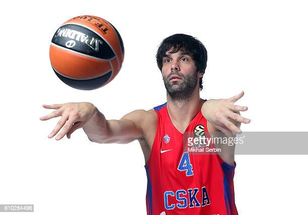 Milos Teodosic #4 of CSKA Moscow poses during the 2016/2017 Turkish Airlines EuroLeague Media Day at USH CSKA on September 23 2016 in Moscow Russia
