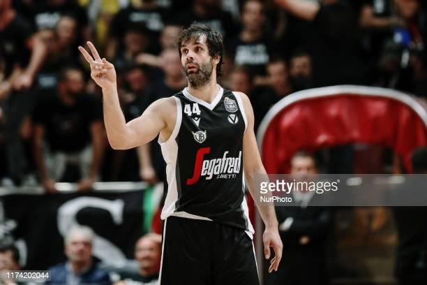 Milos Teodosic during the Italy Lega Basket of Serie A match between Segafredo Virtus Bologna and Umana Reyer Venezia at PalaDozza on October 6, 2019...