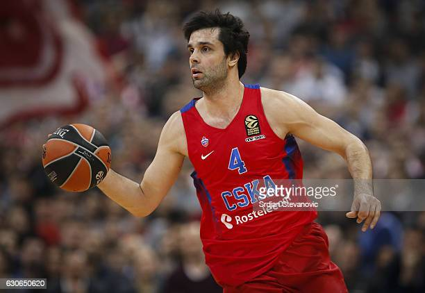 Milos Teodosic of CSKA Moscow in action during the 2016/2017 Turkish Airlines Euroleague Regular Season Round 15 game between Crvena Zvezda MTS...