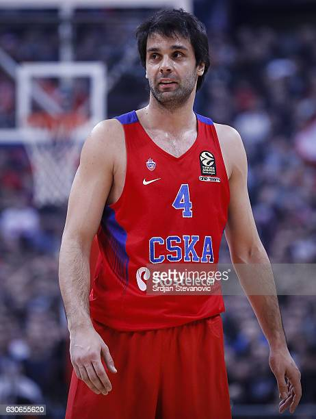 Milos Teodosic of CSKA Moscow looks on during the 2016/2017 Turkish Airlines Euroleague Regular Season Round 15 game between Crvena Zvezda MTS...