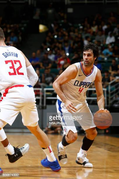 Milos Teodosic of the LA Clippers during the preseason game on October 1 2017 at the Stan Sheriff Center in Honolulu HI NOTE TO USER User expressly...