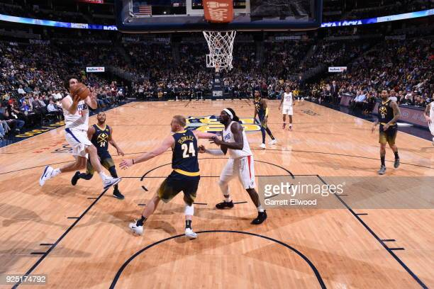 Milos Teodosic of the LA Clippers handles the ball against the Denver Nuggets on February 27 2018 at the Pepsi Center in Denver Colorado NOTE TO USER...