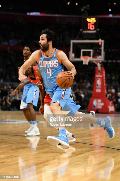 Milos Teodosic of the Los Angeles Clippers during the game against the New Orleans Pelicans on March 6 2018 at STAPLES Center in Los Angeles...