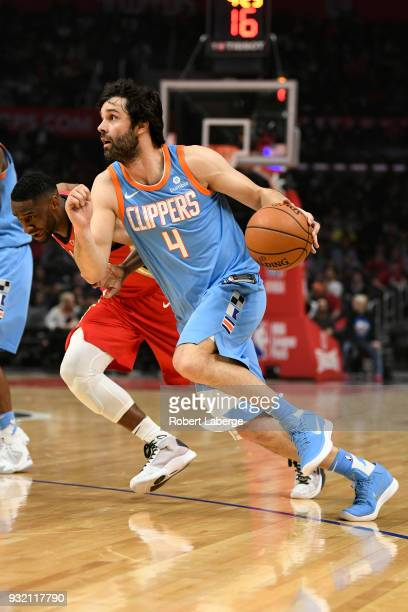 Milos Teodosic of the Los Angeles Clippers plays against the New Orleans Pelicans on March 6 2018 at STAPLES Center in Los Angeles California NOTE TO...