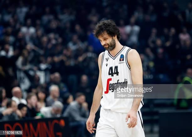 Milos Teodosic of Virtus Bologna looks dejected during the 2019/2020 EuroCup Top 16 Season match between KK Partizan and Segafredo Virtus Bologna at...