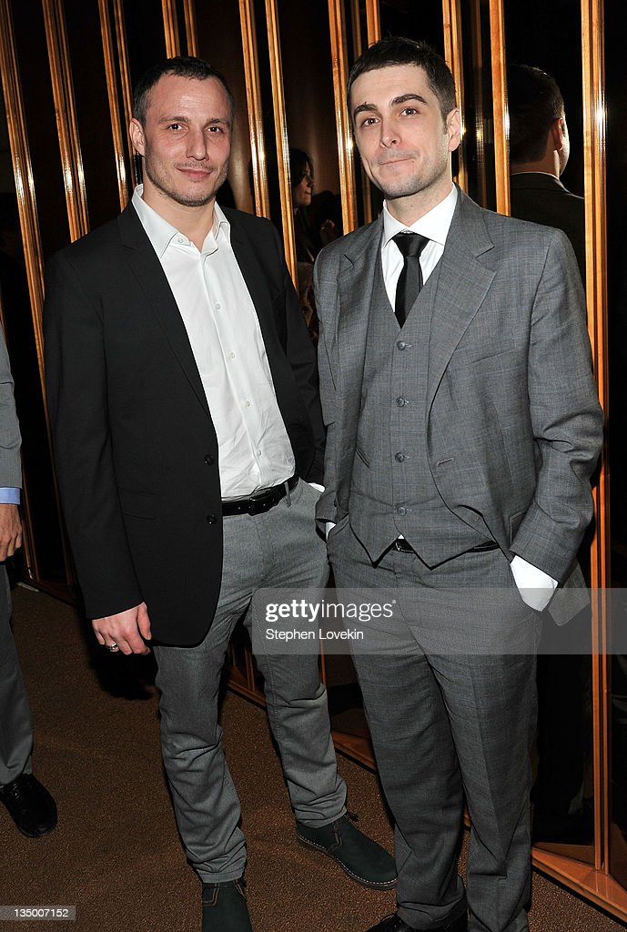 Milos Timotijevic and Boris Ler attend the after party for the premiere of 'In the Land of Blood and Honey' at the The Standard Hotel Rooftop on December 5, 2011 in New York City.