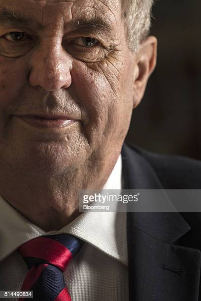 Milos Zeman Czech president pauses during an interview in Chyse Czech Republic on Wednesday March 9 2016 Zeman will name at least one new member to...